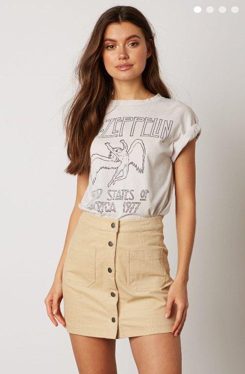 141dfefd788e Tan Button up Skirt ...