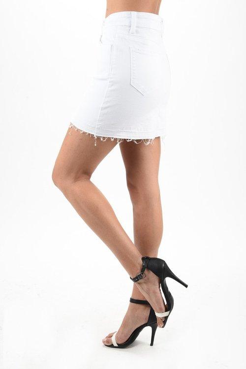 45b2fa9f5de4 White Jean Skirt ...