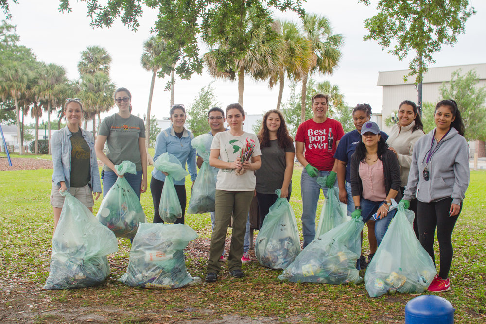 IDEAS Program,  The Hive Orlando , hosts an Umuganda action day to clean-up a local park of single-use plastic garbage (Lake Lorna Doone, 2018).