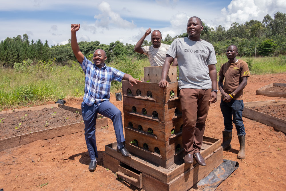 IDEAS For Uganda Team with Vertical Microgardening