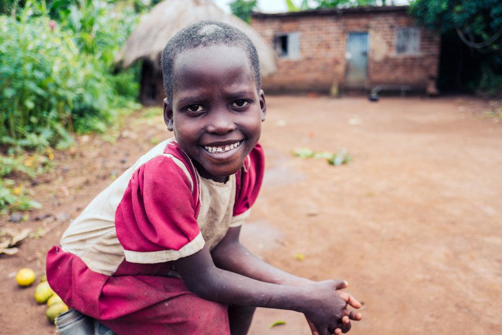 A young girl in Naibowa Village, Kamuli, Uganda