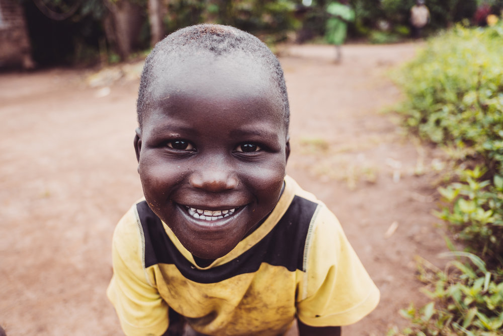 A young boy in Naibowa Village, Kamuli, Uganda