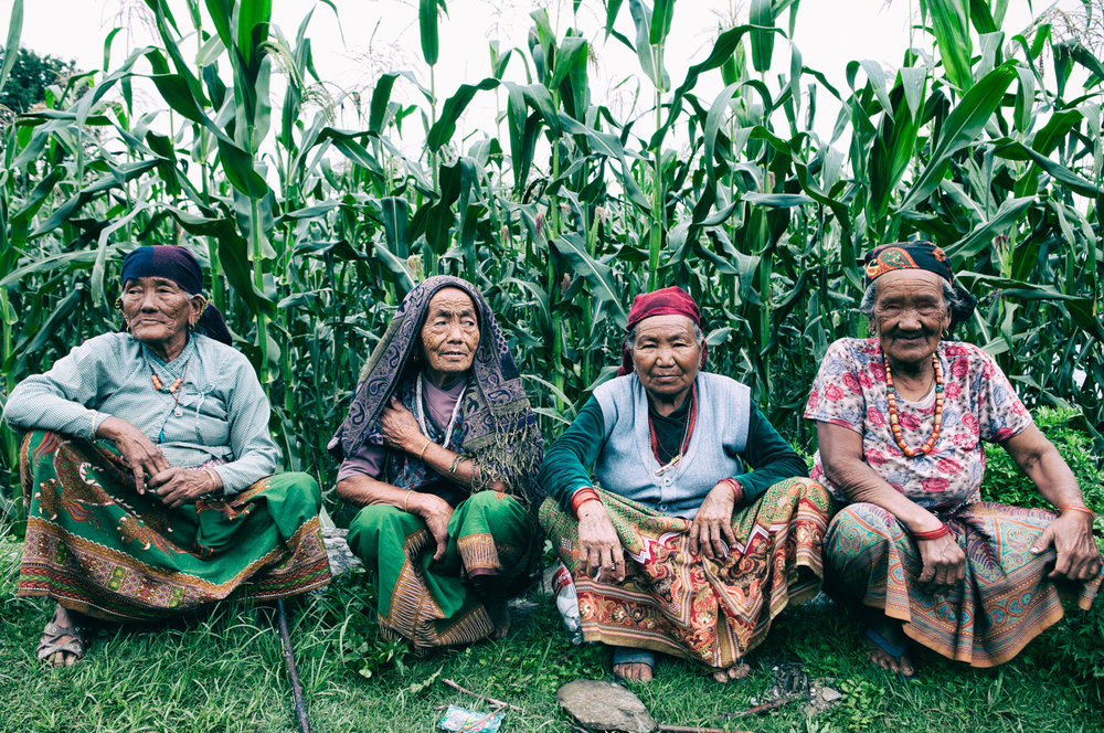 Village elders in Hamzikot, Nepal