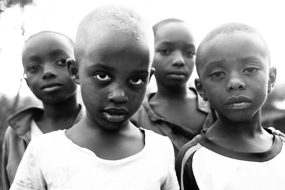 Young children in Nyanza, Rwanda
