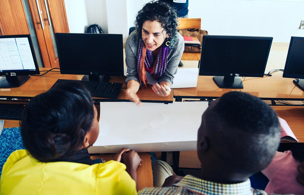 Sharon Hammond, Hive Director, in Rwanda