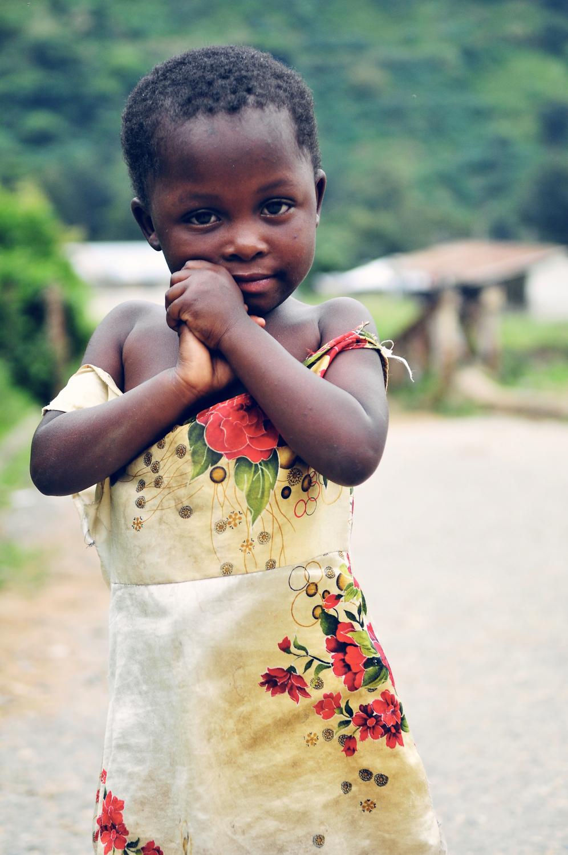 A young girl in Kilembe Town, Kasese, Uganda
