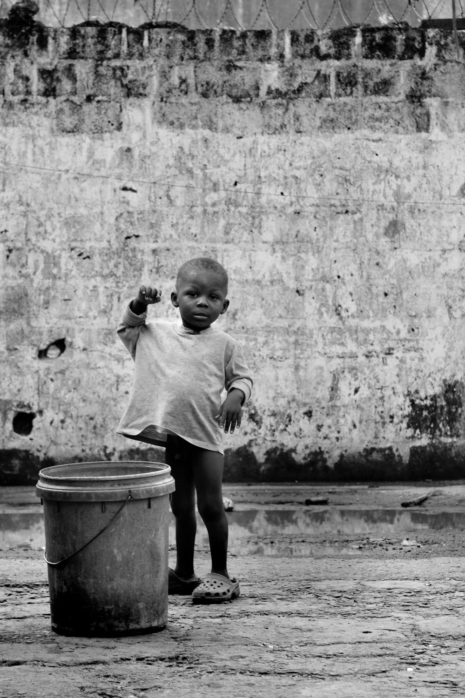 A child in Monrovia, Liberia