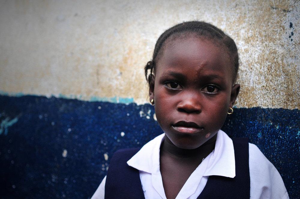 A young girl in Monrovia, Liberia