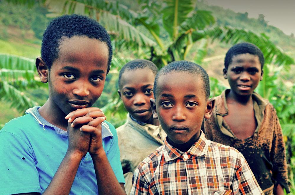 Young children in Kisoro, Rwanda