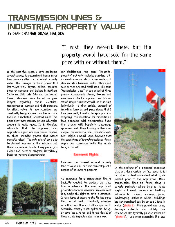 Click to read Dean's article published in the IRWA Magazine