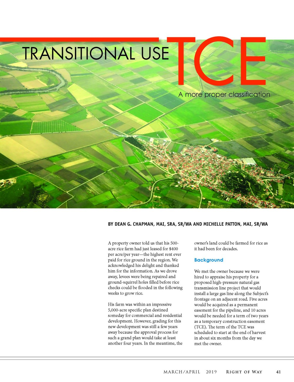 Click to read Dean and Michelle's article on Transitional Use TCEs