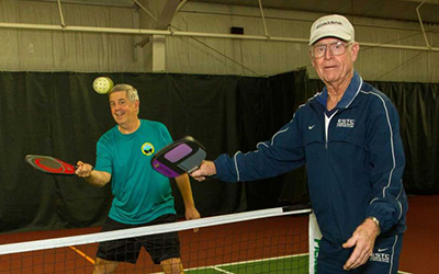 Pickleball Instructors: Roger Schaljo and Buzz Summers