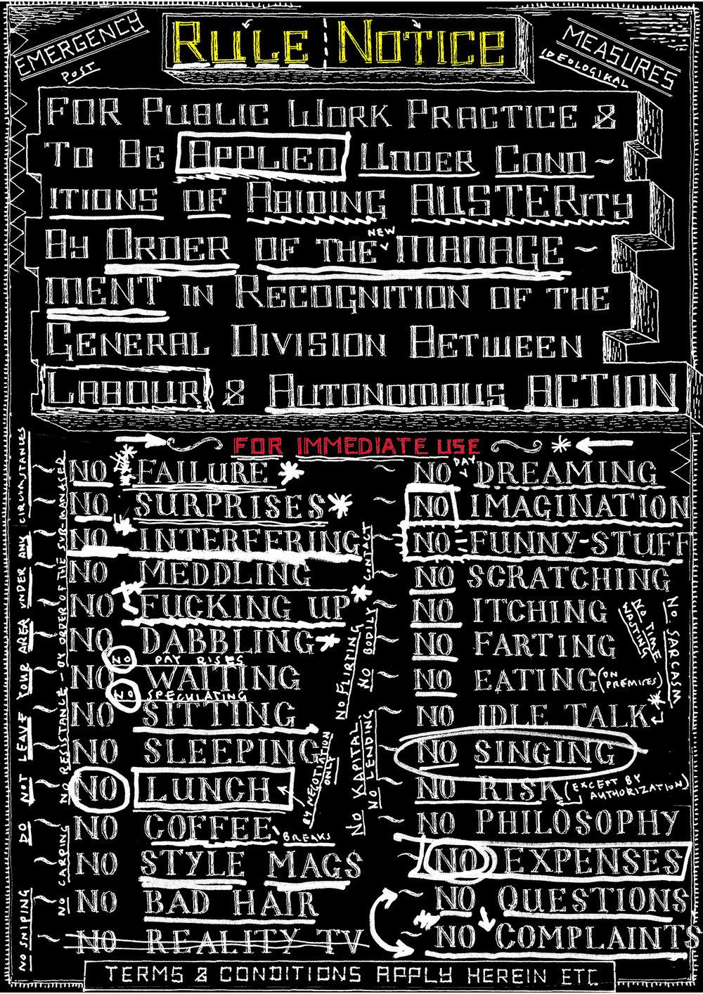 Poster for Open Ateliers, Rijksakademie, 2010, Amsterdam, NL