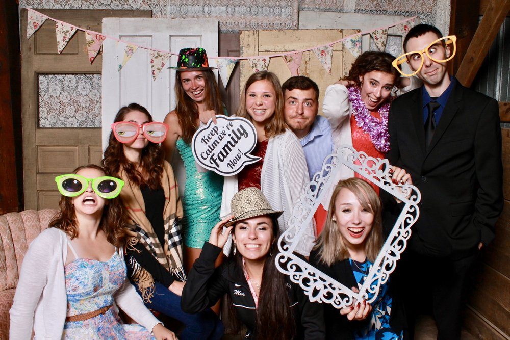 WEDDINGS - The photographer is paid to capture photos of the Bride and Groom, someone needs to get photos of the guests.  Photo Booths are a great way to create lasting memories, entertain wedding guests, and have people talking about your event long after it's over.