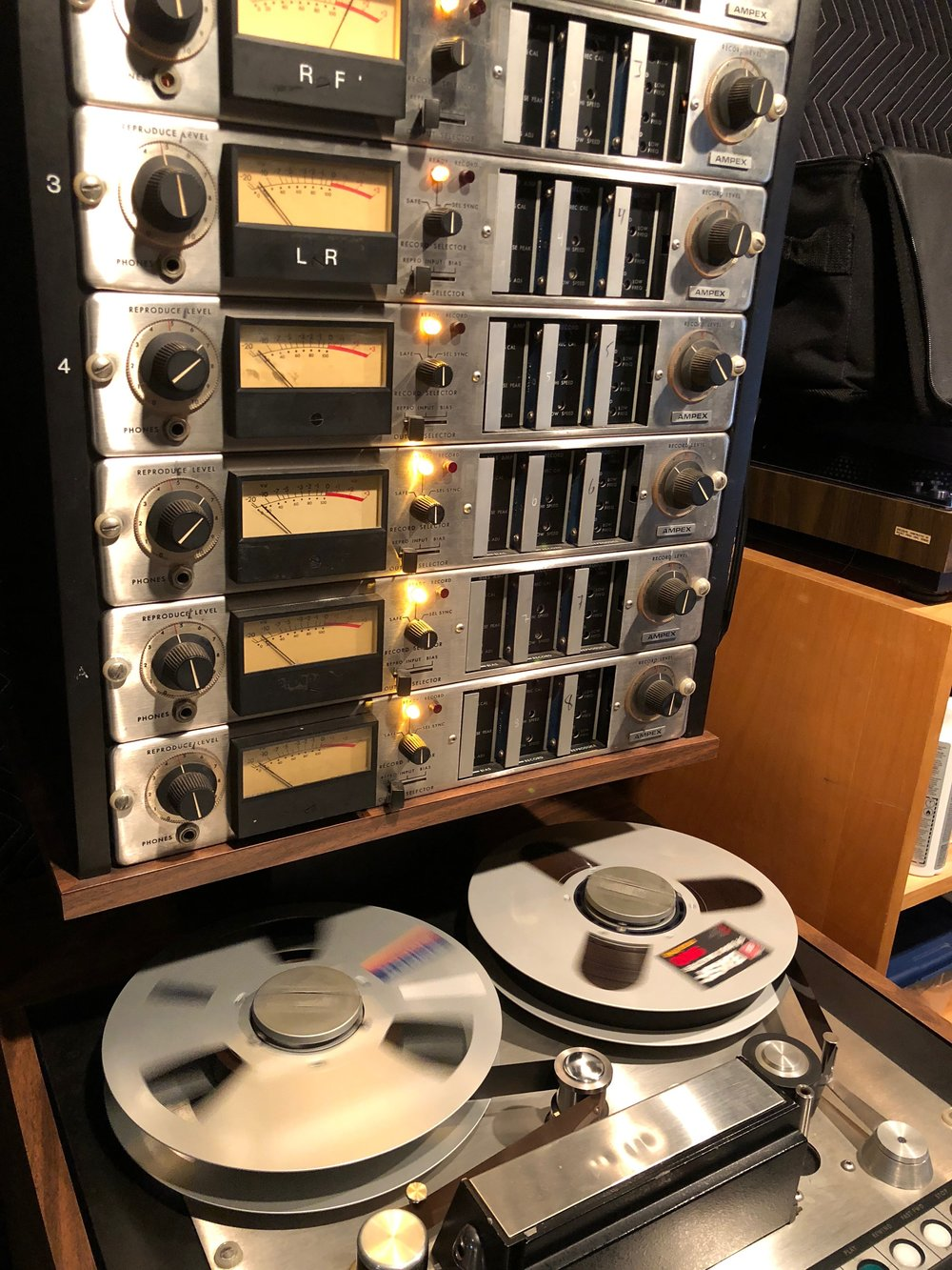 Ampex Tape Machine Mixing
