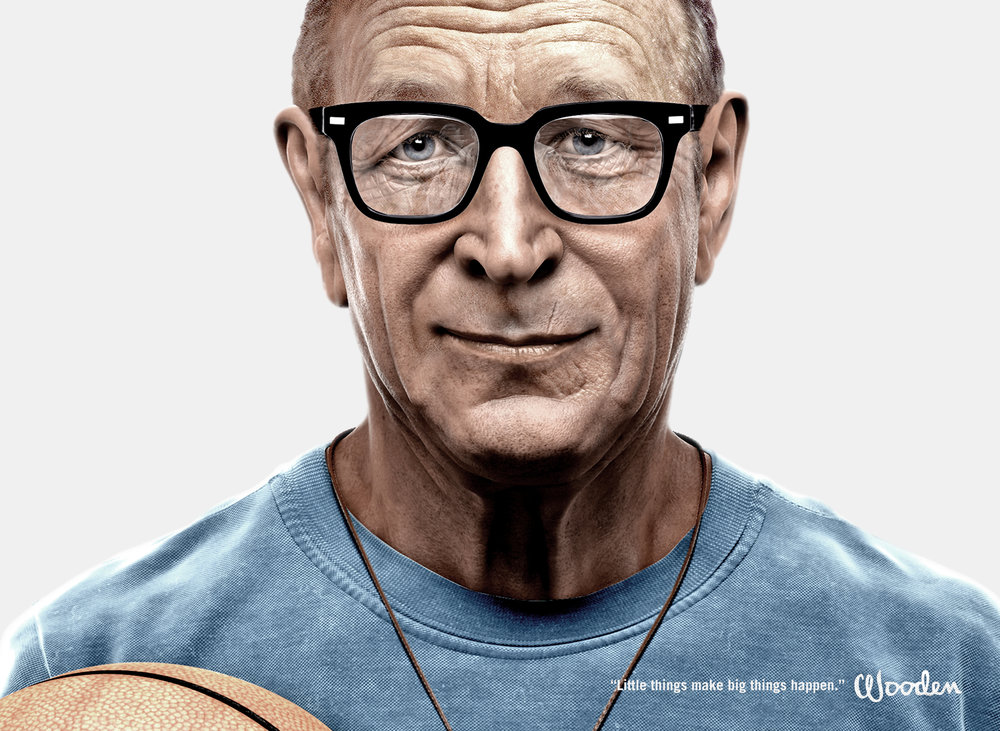 Fabled's 3D portrait of John Wooden