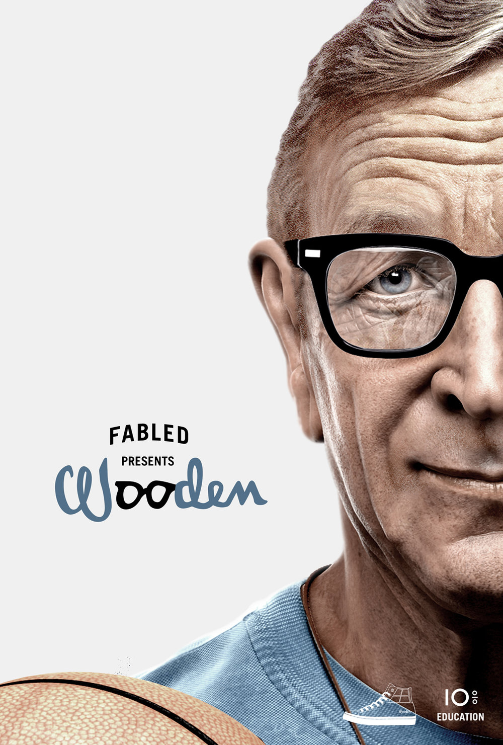 Fabled John Wooden poster