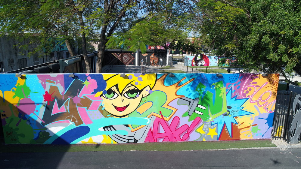 CRASH MURAL INSIDE THE WYNWOOD WALLS