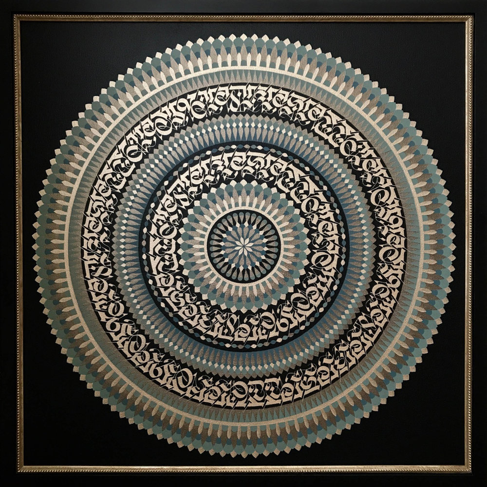 CRYPTIK  Eye of the Mystic , 2016  Acrylic on canvas with custom framing Signed on the reverse  25 x 25 in.