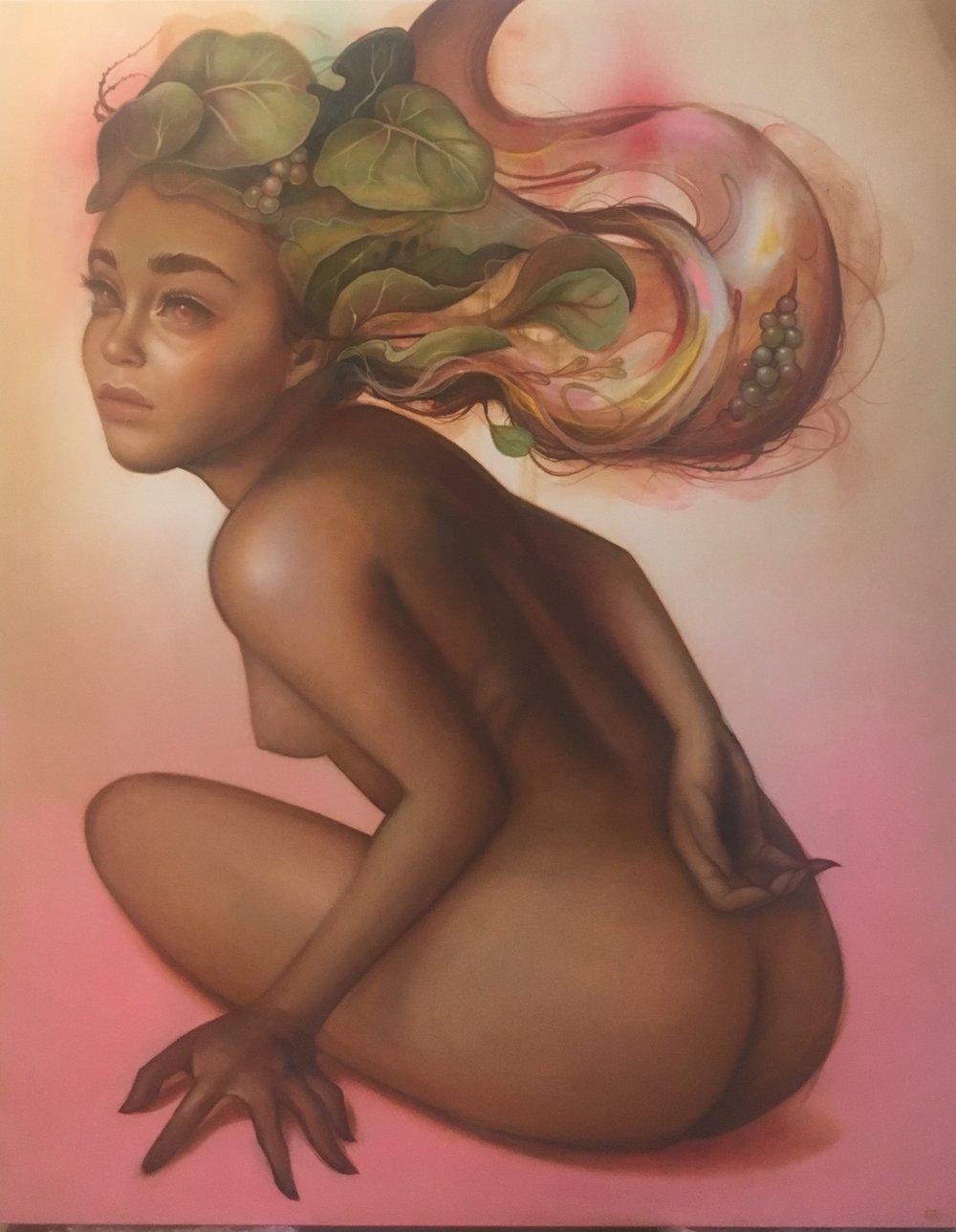 TATI SUAREZ  Uvifera , 2016  Oil and aerosol on canvas. Signed lower right  60 x 48 in.