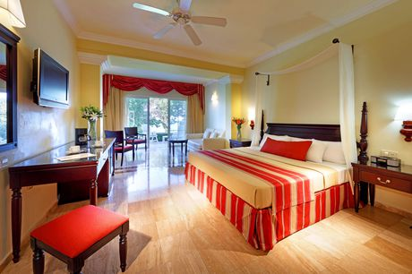 Junior Suite All Inclusive    YYZ - MBJ 7 NIGHT PACKAGE    DOUBLE OCCUPANCY:  $2056 CAD  / PER PERSON  TRIPLE OCCUPANCY:  $1943 CAD  / PER PERSON  SINGLE OCCUPANCY:  $2691 CAD  / PER PERSON  CHILD AGES 2-12:  $1390 CAD  / PER CHILD - WHEN SHARING A ROOM WITH 2 ADULTS