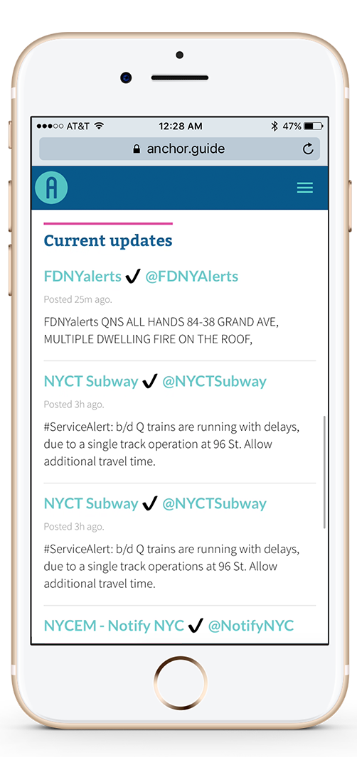 Homepage: Updates by city agencies.