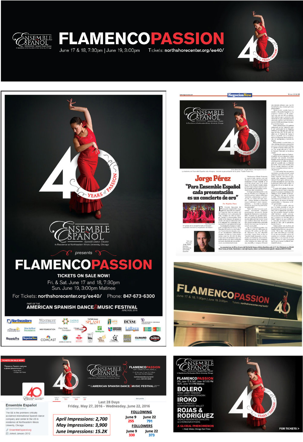 Ensemble Español Flamenco Passion Branding and Marketing