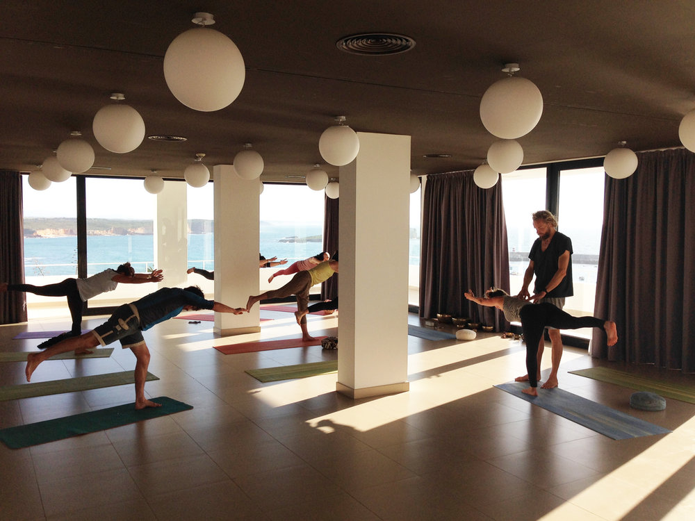 Algarve yoga class