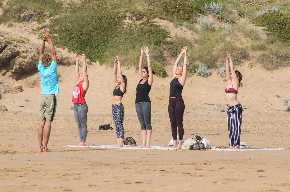 yoga retreat on the beach