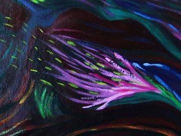 Detail: Tellurian Dreams Oil on board, 2015  ©Nancy Ward