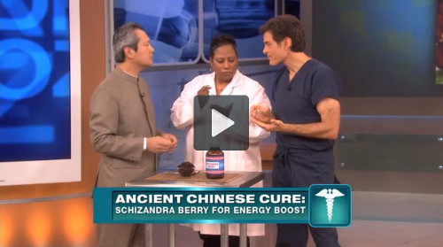 Dr. Mao Shing Ni shows Dr. Oz the energy and mental benefits of Schizandra berries