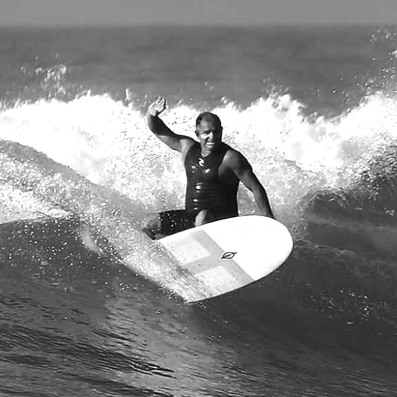 """2+ decades of experience running competitions in Malibu. Loving 27 year marriage to his beautiful wife Joann, 3 great kids, & four legged son Surfrider aka Rider. """"Surfing is the lifestyle that our family embraces, we're extremely blessed""""."""