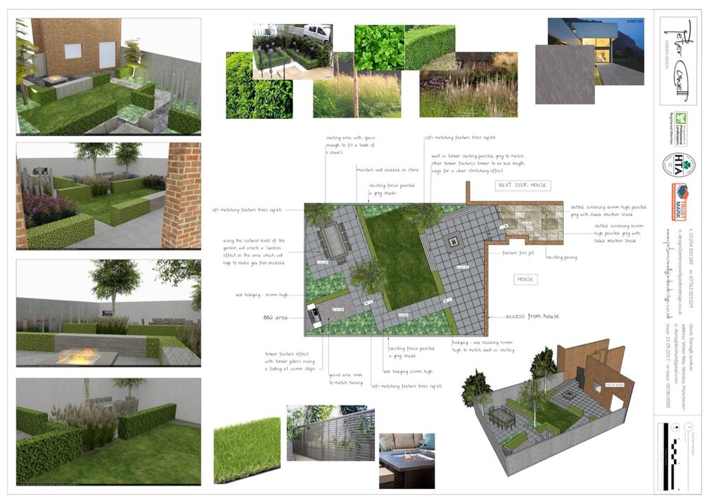 Typically my design style is for practical designs with strong lines and structure, finished with lush, full planting, all designed for year round interest.