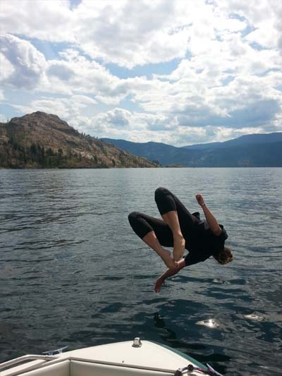 PEACHLAND BACK FLIP