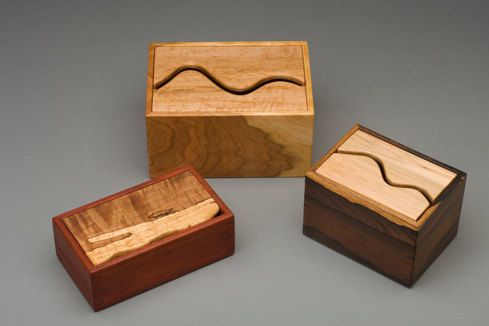 VARIOUS PADAUK, CHERRY AND ZIRICOTE
