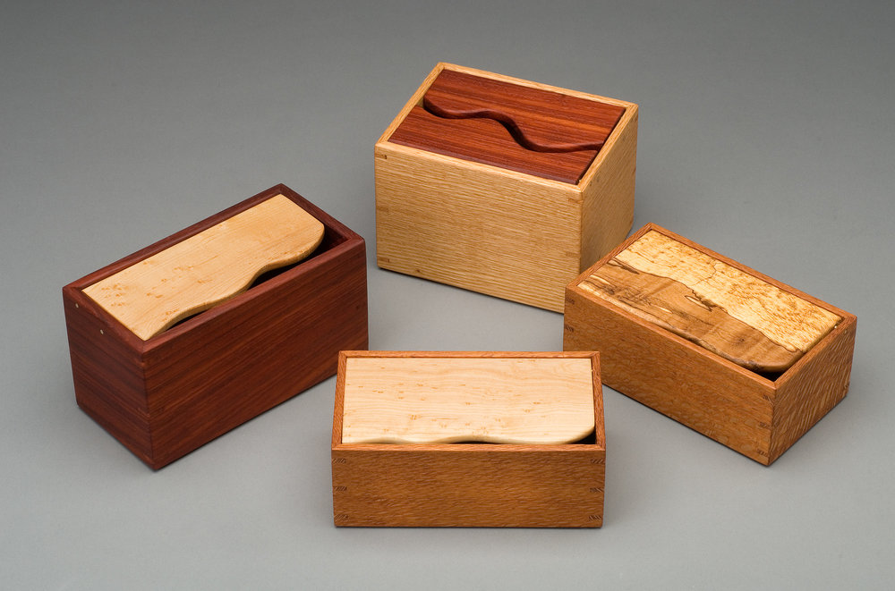 VARIOUS PADAUK, RED OAK AND LACE