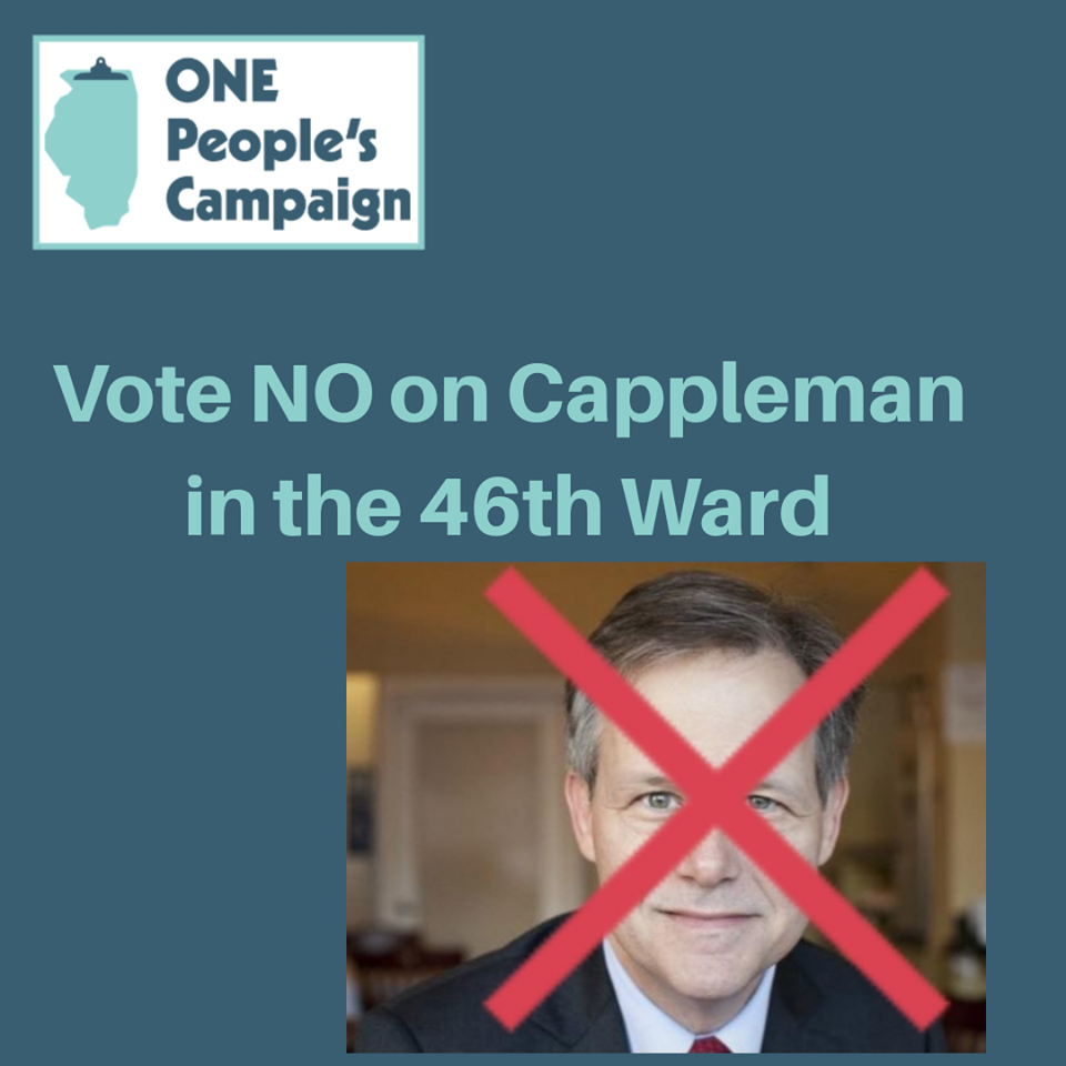 """OPC """"Anti-Endorses"""" Cappleman in the 46th Ward -"""