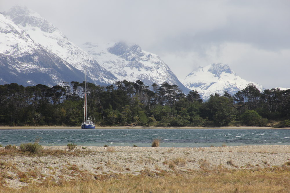 An anchorage along the Beagle Channel