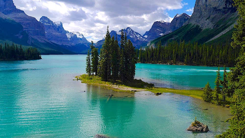 Spirit Island on the Maligne Lake