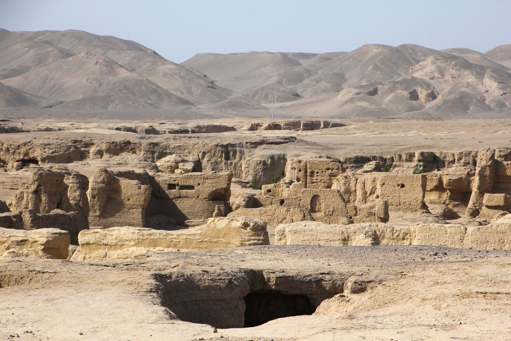 The Jiaohe Ruins, also known as Yar City near Turpan.