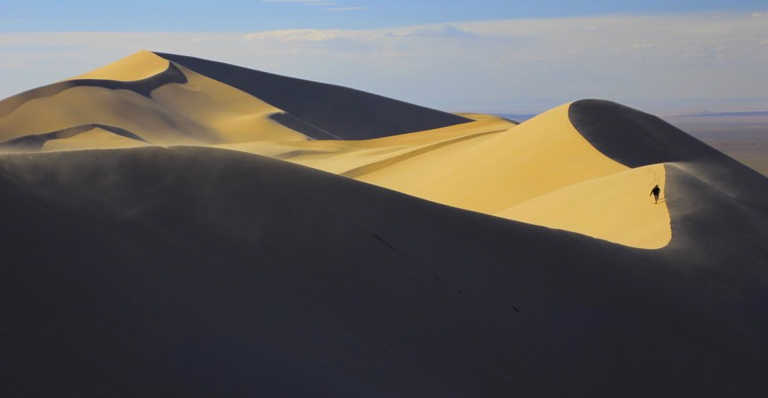 The Gobi sand dunes