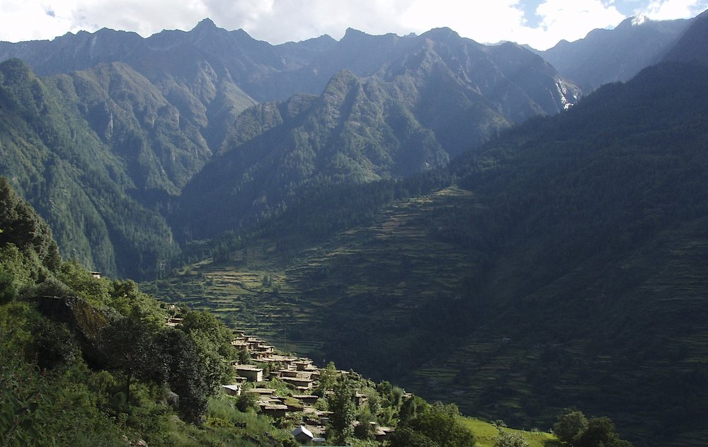 Western Nepal - a village close to Simikot