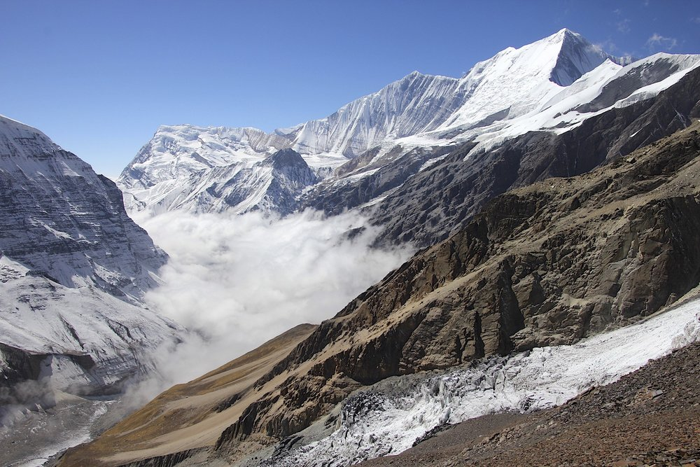 The view to Dhaulagiri II.