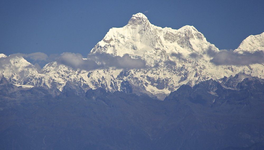 Jannu Peak from Ilam - the spectacular Kangchendzonga massif