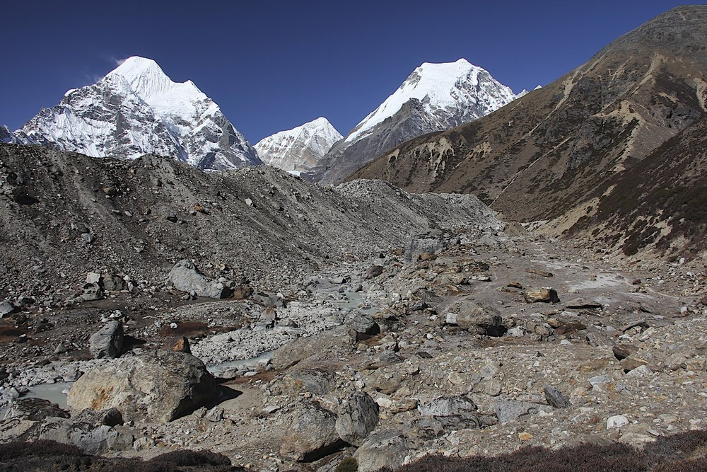 Mt. Chamlang and Lower Barun Glacier