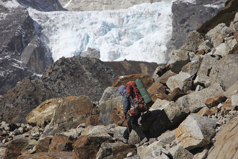 Lower Barun Glacier Icefall