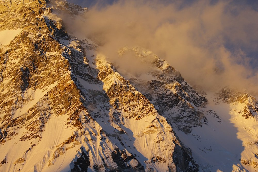 Sunset on Makalu