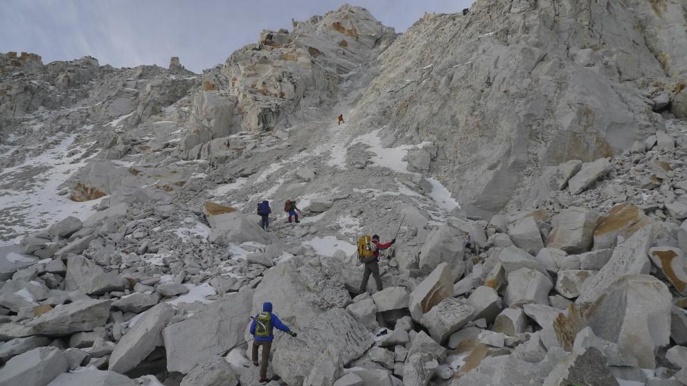 Climb to Sherpani Col