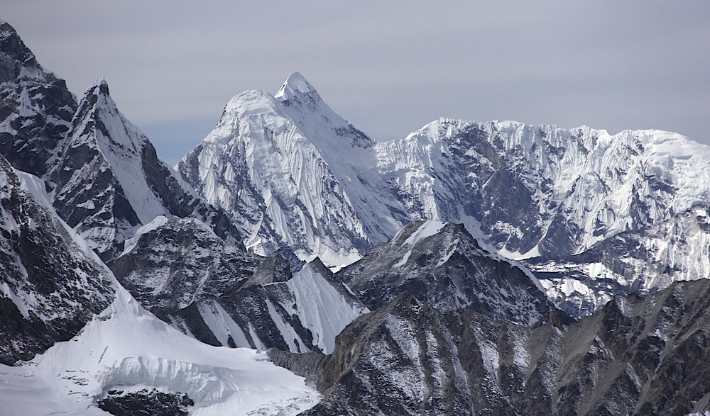 The peaks of the Khumbu.