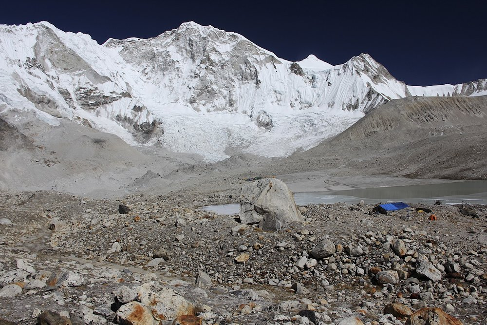 Mt. Baruntse from the Baruntse BC